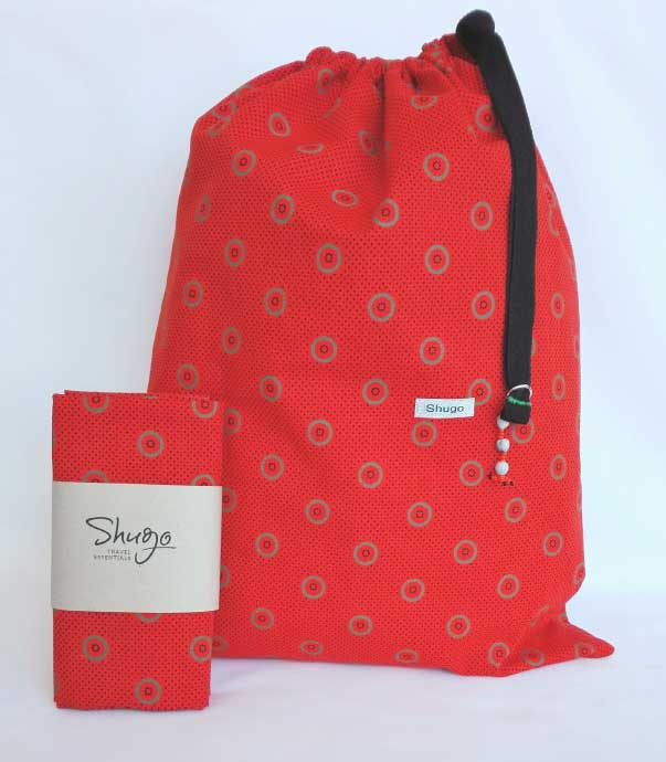 Orange With Rings Shweshwe Laundry Bag